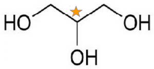 glycerol.kiral.stjerne